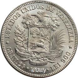 Venezuela 5 bolivares 1935, BU, United States of Venezuela (1879 1952)