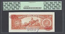 Venezuela 50 Bolivares 1964-72 P44s Specimen TDLR N004 Uncirculated