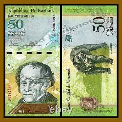 Venezuela 50 Bolivares x 500 Pcs Bundle Lot (1/2 Brick), 2007-2016 P-92 Unc