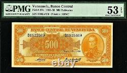 Venezuela 500 Bolivares 29 May 1958 Pick-37b About UNC PMG 53 EPQ