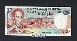Venezuela 500 Bolivares ND (1971-72) P56s Specimen Uncirculated