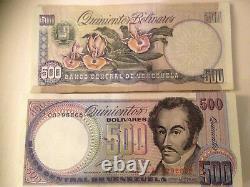 Venezuela 500 Bolivares x 100 Pcs Bundle, 1990 Serial Z Reposition UNC