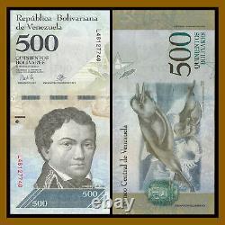 Venezuela 500 Bolivares x 500 Pcs Half 1/2 Brick, 5 Bundles, 2016-2017 P-94 Used