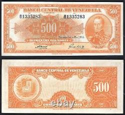 Venezuela, Banco Central, 500 bolivares, November 8 1956, B1335283 (WPM 37b)