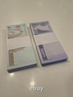 Venezuela Bolivares 1 Million 500.000 2 Bundle 200 Banknotes New