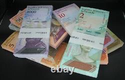 Venezuela Bolivares 1000 pcs. 10 different bundles UNC BRICK