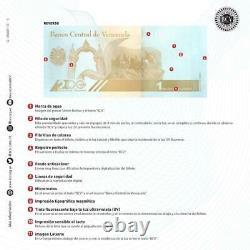 Venezuela Bolivares 2020 1,000,000 New Unc. Pack of 100 Commemorative Banknote