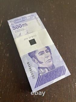 Venezuela Bolivares 500,000 Bundle 100 Banknotes