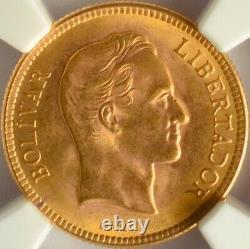 Venezuela Gold 10 Bolivares 1930 Ngc Ms 65 Unc