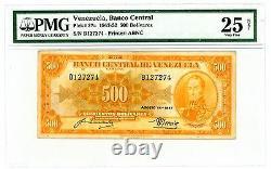 Venezuela. P-37a. 500 Bolivares. 1947. VF PMG 25. Prefix B1