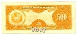 Venezuela. P-37c. 500 Bolivares. 11-March-1960. CH VF-XF. Prefix B2