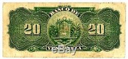 Venezuela P-S301a. 20 Bolivares 15. Jul. 1925. F++