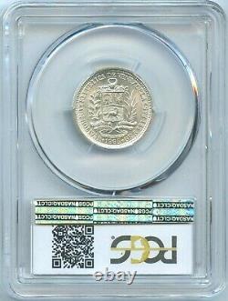 Venezuela Silver Bolivar 1965 KM-37a PCGS MS66+