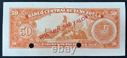 Venezuela Specimen 50 Bolivares, 1960-1966, Specimen Sin Valor UNC Pick 44s