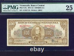 VenezuelaP-34a, 100 Bolivares, 1949 Simon Bolivar & Sucre PMG VF 25