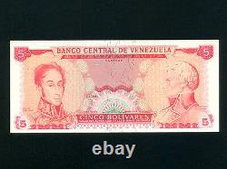 VenezuelaP-50r, 5 Bolivares, 1973 S. Bolivar & F. Miranda Reminder UNC