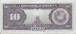 10 Bolivares 14-1-1954 G7 Extra Fine Condition Rare