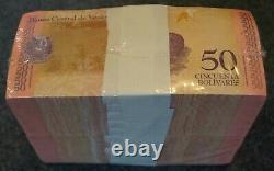10 Bundles / 1 Brick = 1000 Banques Venezuela, 50 Bolivares Soberano 2018, P