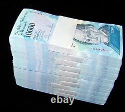 1000 X Venezuela 10000 (10000) Bolivares, 2016-2017 Billets De Banque / Brique De Monnaie