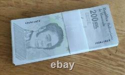 100xvenezuela 200 000 Bolivars Note Unc