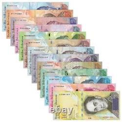 (10x) Le Venezuela Renouvelle Le Nouveau Lot Unc 2-100000 (130 Pièces Pcs 10x Ensembles Complets)