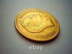 1889 Venezuela Simon Bolivar $ 100 Bolivares (pachano) Pesos 32 Piece En Or Grs