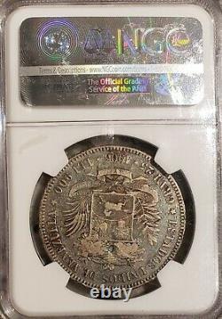 1905 Venezuela 5 Bolivariennes Gram 25 Pièces D'argent Vf 25 Ngc
