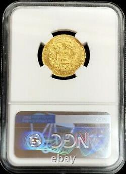 1911 Or Venezuela 20 Bolivares Simon Bolivar Coin Ngc État De La Monnaie 64