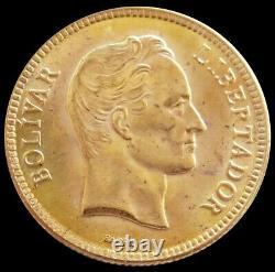 1930 Or Venezuela 3.225 Grammes 10 Bolivares Simon Bolivar Coin Unc+