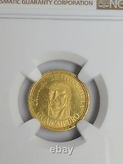 1955 Venezuela Or 10 Bolivars Guaicaipuro Ngc Ms 63 Numéro Medallic