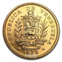 1975 Venezuela Gold 1000 Bolivares Cock Of The Rock Bu Sku#149262
