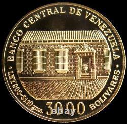 1983 Or Venezuela 31,1 Grams 3000 Bolivars Simon Bolivar Gem Proof Coin