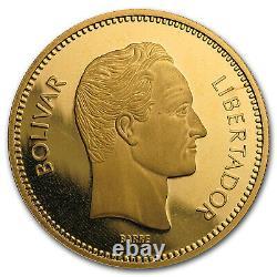 1987 Venezuela Proof Gold 10 000 Bolivares Simon Bolivar Sku#56633