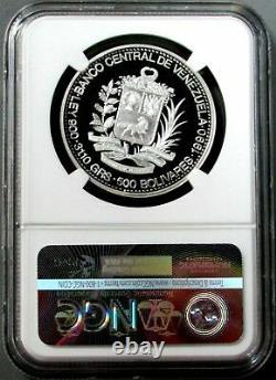 1990 Argent Venezuela 500 Bolivares Paez Bicentenaire Proof Coin Ngc Pf 68 Uc