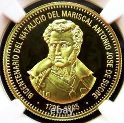 1995 Or Venezuela 5000 Bolivares Sucre Bicentenaire Ngc Proof 69 Uc