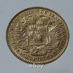 20 Bolivares 1912 Pièce D'or
