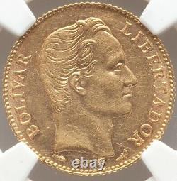 20 Bolivares Gold Venezuela 1911 Ngc Au-58 Low Mintage Near Mint State
