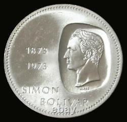 20 Coin Roll 1973 Argent Venezuela 10 Bolivares Simon Bolivar Mint State Coins