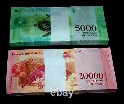 200 Billets De Banque Venezuela100 X 5000 & 20000 Bolivares, Numéro 2017 / Aunc
