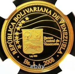 2008 Or Venezuela Bolivar Simon Bolivar Monetary Coin Ngc Proof 69 Ultra Cam