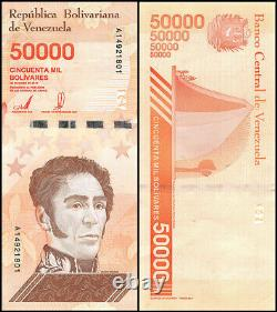 2019 Venezuela 50 000 $ Revitalise Nouveau Unc 1 Brique 1000 Pcs Ultra Rares Billets