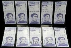 2020 Venezuela 500 000 $ Bolivars Ensemble De 10 Nouvelles Notes Unc Qui Viennent De Sortir 10 Pcs