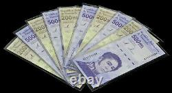 2020 Venezuela Bolivares Set $200,000 & $500,000 10 Piece Set New Unc 5 Of Each