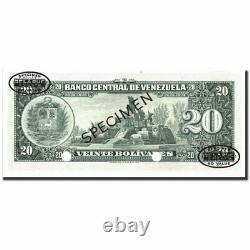 #213813 Billet, Venezuela, 20 Bolivares, 1960-1966, Spécimen Tdlr, Km43s3