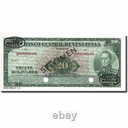 #213813 Billete, 20 Bolivares, 1960-1966, Venezuela, Specimen, Km43s3, Unc