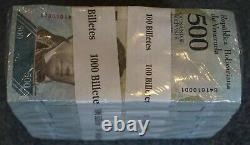 #23037, A, B 10 Bundles / 1 Brick = 1000 Billets Venezuela, 500 Bolivares