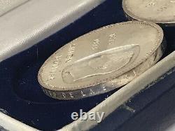 3 X Venezuela 10 Bolivares 1873 1973 Simon Bolivar Ley 900 Silver Coin Set