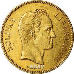 #489600 Münze, Venezuela, 100 Bolivares, 1887, Caracas, Ss, Or, Km34