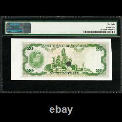 Banco Central De Venezuela 20 Bolivares 1974-79 Remainder Pmg 58 À Propos De Unc P-53r