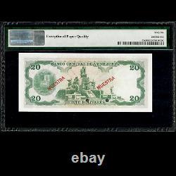 Banco Central De Venezuela 20 Bolivares 1977 Specimen Pmg 66 Gem Unc Epq P-53s2
